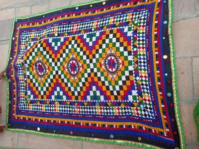Kalbeliya blanket, handicraft, handmade
